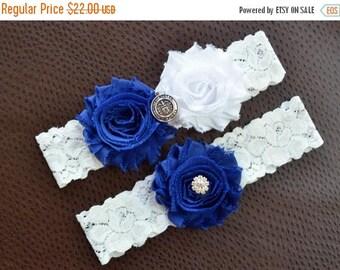ON SALE Air Force Wedding Garter Set, Air Force Bridal Garter Set, White Lace Wedding Garter, Garter, Air Force Garter, United States Air Fo