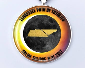 """Tennessee Path of Totality Total Solar Eclipse 2017 Ornament - 2"""" Nashville Total Solar Eclipse- Car Rear View Mirror Ornament"""