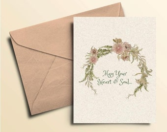 May Your Heart & Soul Sympathy Card