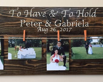 Personalized Wooden Clothespin Picture Sign
