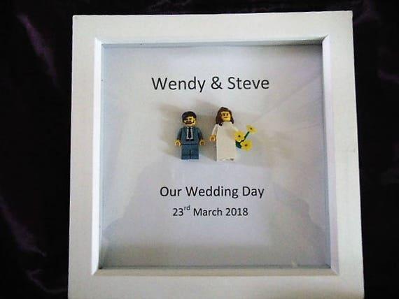 Mr and Mrs, Bride and Groom, Mini Figure Frame, wedding frame, fully ...