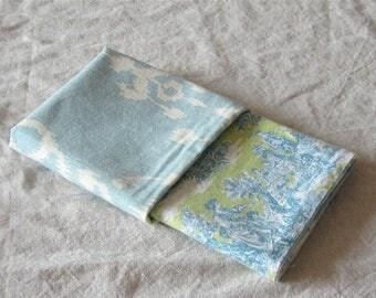 Toile de Jouy fabric scraps,shabby fabric remnants, toile de jouy fabric remnants, ikat fabric scraps, scrapbooking fabrics, quilting scraps