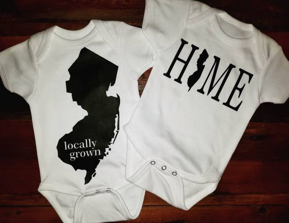 Welcomes to NJ 'lil one duo-onesies