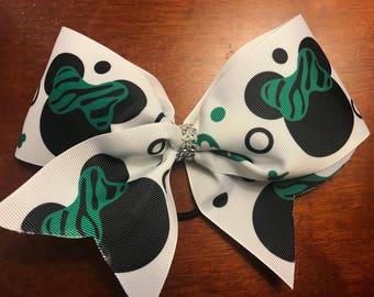 Mouse st patricks day cheer hair bow large