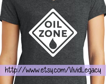 Oil Zone Essential Oil Shirt - Ladies V-neck - Funny Oily Womens shirt