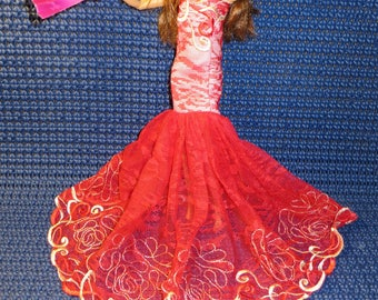 Spanish style for barbie doll princess dress