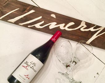Vintage Winery Sign