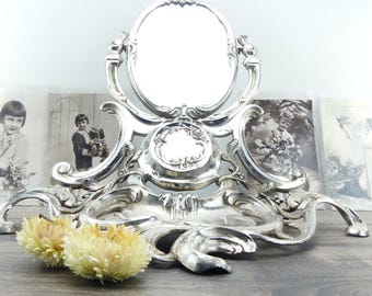Antique mirror - Silver mirror - Bedroom mirror - Dressing table mirror - French chic mirror - Vanity Mirror - Princess mirror