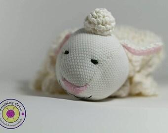 Cute Sheep Baby Blanket / Handmade toy/Blanket