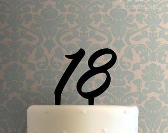 Eighteen Cake Topper 100