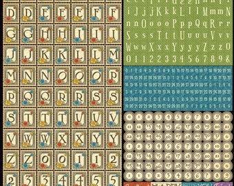 Graphic 45-Children's Hour Alphabet Stickers