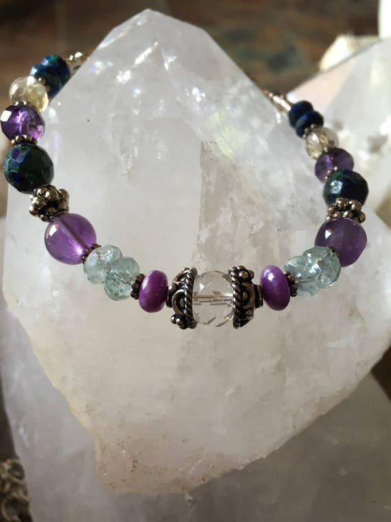PSYCHIC ENHANCEMENT necklace -bracelet Matching Parent Child Psychic Energy Sedona Reiki Charged Psychic Connection Higher Wisdom Protection