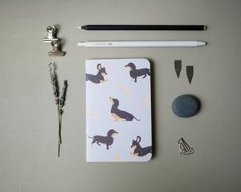 Grey Dachshund Pocket Notebook