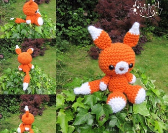 Felix the fox medium amigurumi