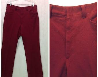 70's 80's FUNKY TEXTURED POLYESTER men's vintage Dress Pants~Slack~Suit Pants