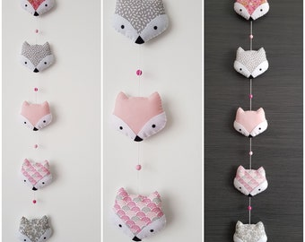 Garland Fox wall decor for nursery, woodland theme Garland