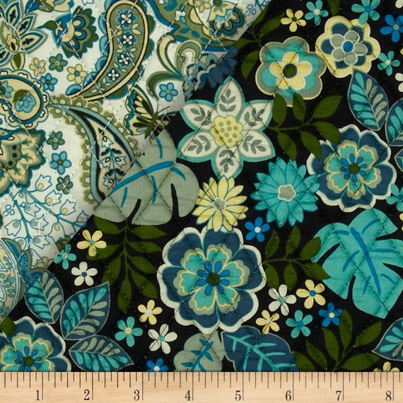 Cassandra Double Faced Quilted Large Modern Floral and Traditional ... : double faced quilt fabric - Adamdwight.com