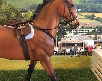 Model horse tack set