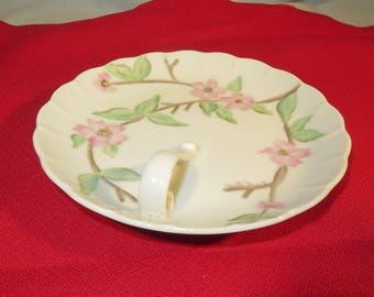 "Porcelain Dish Handle 6"" Onet by Sewell Pink Floral"