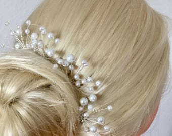 Bridal hair pins with Pearl wedding hair wedding hair jewelry style bride hair pins