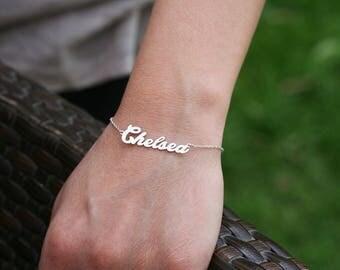 Personalized Name Bracelet • Custom Bracelet • Personalised Jewelry • Handwriting Bracelet • Wedding Gift • Gift for her