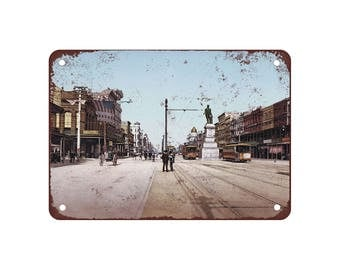 "1900 Canal Street New Orleans - Vintage Look Reproduction 9"" X 12"" Metal Sign"