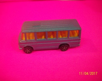 Vintage Corgi Junior Mercedes Benz Bus  Steel Blue 1/64 Diecast Bus Made in Great Britain  See Description For Flaws