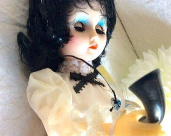 On Sale Reduced- Vintage 15 inch vinyl doll. Bell 1890's Telephone System Operator. Still in box.