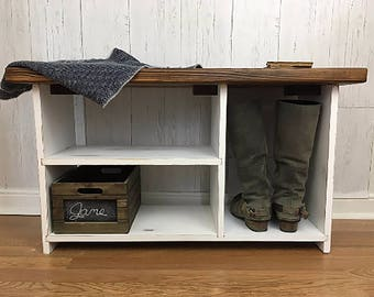Entryway Organizer, Entryway Bench, Shoe Storage Bench, Entryway Bench with Shelves, Shoe Organizer, Wood Bench, Bench with shoe storage