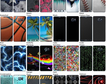 Choose Any 2 Designs - Vinyl Skins / Decals / Stickers for Samsung Galaxy Note 5 Android Smartphone