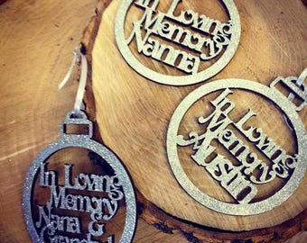 In Loving Memory Christmas Decoration, Personalised