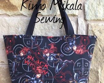 Black Widow Marvel Comics Inspired Handbag/Shoulder Bag