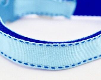 Blue Stitch Design Dog Collar