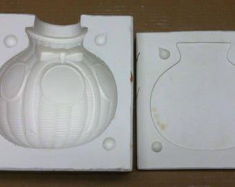 Vintage Estate Ribbon Planter Wicker Basket Ceramic Mold AS-344 Artist Shack G5
