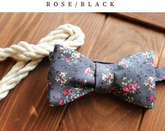 Two-sides grey and black bow tie, Wedding Bow Tie, Gift for Him, Gift for Dad,Men's Bow Tie, Boy's Bow Tie, Bow Tie For Men