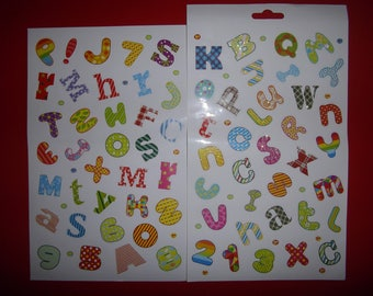"""multicolored and multifaceted """"alphabet"""" set of stickers"""