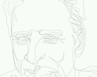 Continuous Line Drawing - Jon Stewart