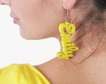 Personalised  Jewelry, Handmade Wood Earrings Gift,  Birthday Gift, Anniversary