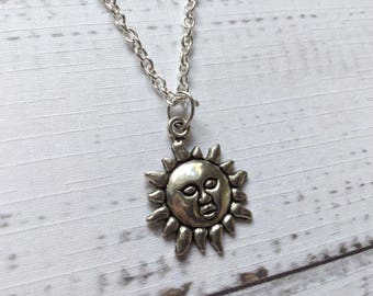Sun Necklace, Sun Jewellery, Boho Jewellery, Gift for Friend, Gift for Her, Birthday Gift, Alternative Gift.