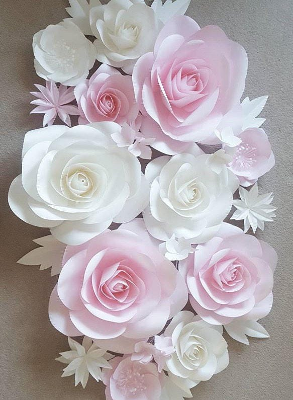nursery paper flowers paper flowers wall decor large paper flowers paper flower wall