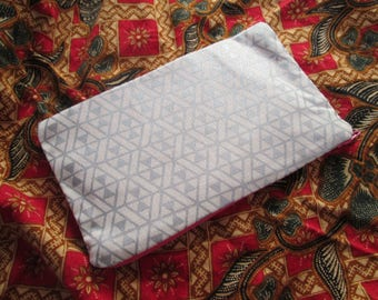 Silver zipper purse