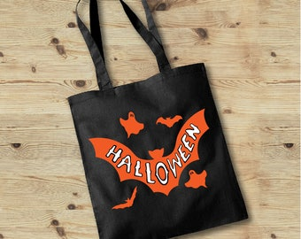 Trick or Treat Bag, Halloween Candy Bag, Candy Tote, Pumpkin Tote Bag, Halloween Tote Bag, Trick or Treat, Kids Halloween Tote, Kids Tote