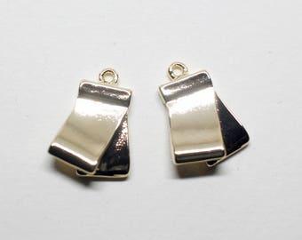 P0776/Anti-tarnished Gold Plating Over Brass/Metal Tassel Pendant/12x16.5mm/2pcs