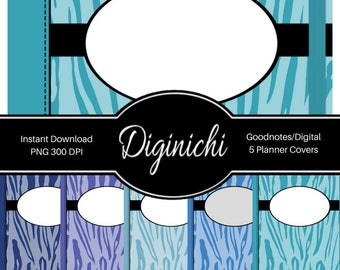 Tiger 04 - Digital Covers for Goodnotes Digital Planners and Journals - PNG & Printable