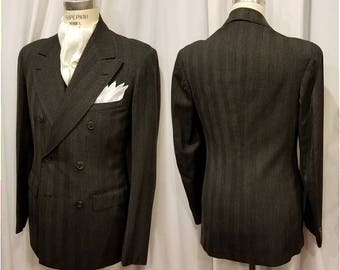 Dated 1939 ~ Rare ~ Double Breasted ~ Vintage ~ Men's ~ 3 Pc ~ Suit ~ Fitted ~ Incredible ~ A Piece of History ~ Wow!!!