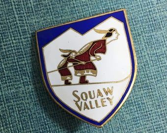 Vintage Squaw Valley Hat Pin
