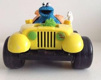 Vintage Cookie Monster car from Sesame Street