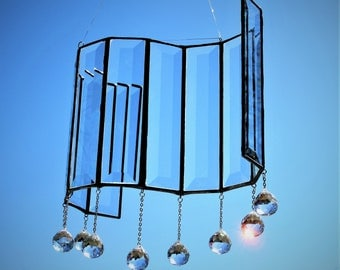 You Can Do It ~ S-shaped Suncatcher with 20mm Crystals
