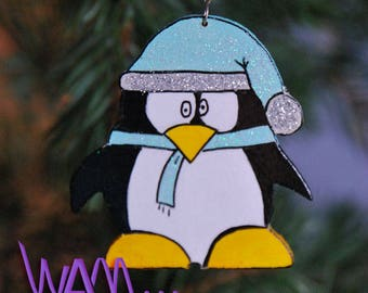 Christmas Penguin hanging decoration