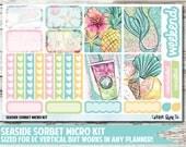 Seaside Sorbet Micro Kit Planner Stickers
